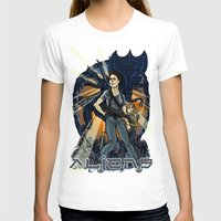 aliens T-shirts featuring Aliens by Ginger Breo