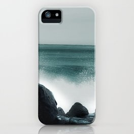 Winter on the ocean iPhone Case