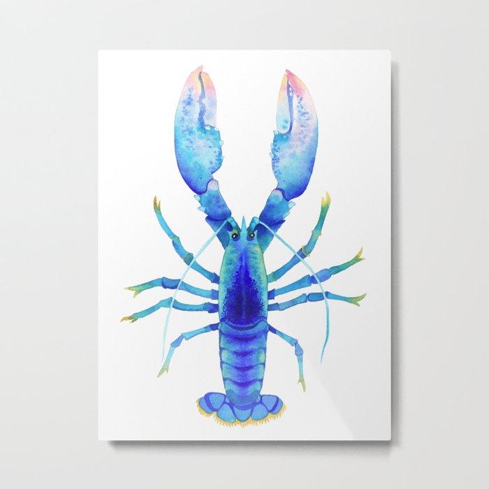 Blue Lobster № 2 Metal Print