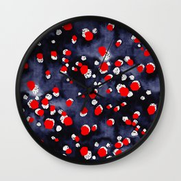 Seeing Red Spots Wall Clock