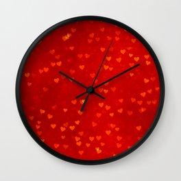 vintage fantasy red loves Wall Clock