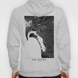 San Diego Black And White Map Hoody