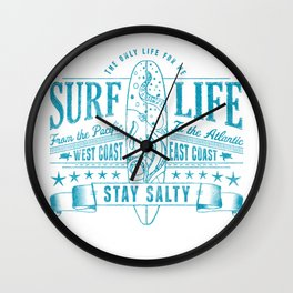Big Bleu Design Stay Salty Wall Clock