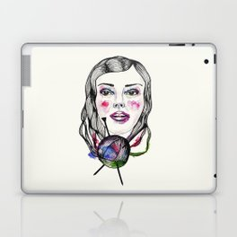 Knitting girl Laptop & iPad Skin