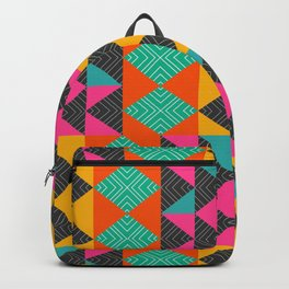 Bright multicolored shapes Backpack