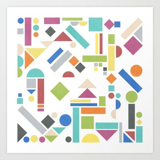Geometry 1 colorful Art Print