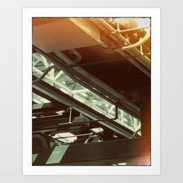 Roller Coaster Underbelly Print Art Print