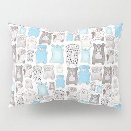 dog pound collage - blue Pillow Sham