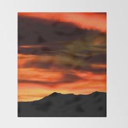 SW Orange Mountain Sunrise - II Throw Blanket