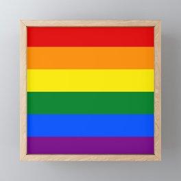 Pride rainbow flag Framed Mini Art Print