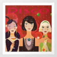 disco Art Prints featuring Disco by Jonny Bateau