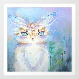 Lavadrille Cat : Guardian of the Mind Art Print