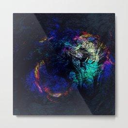 marble ink rainbow texture Metal Print