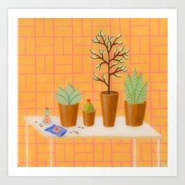 The Study of Botany Art Print