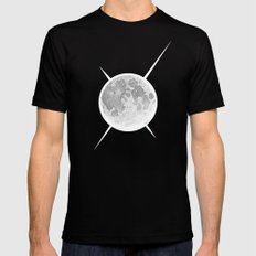 Moon Mens Fitted Tee Black MEDIUM