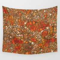 maps Wall Tapestries featuring Fantasy City Maps 3 by MehrFarbeimLeben