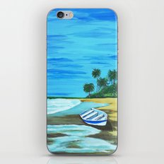 Boat on the beach iPhone & iPod Skin