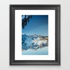 Crater Reflection Framed Art Print