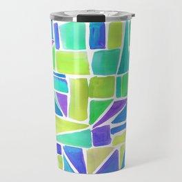Watercolour Shapes Lemon Travel Mug