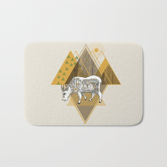Mountain Goat Bath Mat