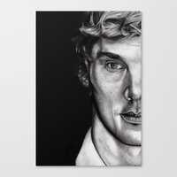 cumberbatch Canvas Prints featuring Benedict Cumberbatch  by Hannah D