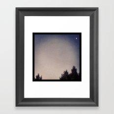 Good-bye, Moon Framed Art Print