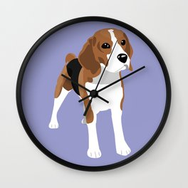 Beagle - Lilac Wall Clock