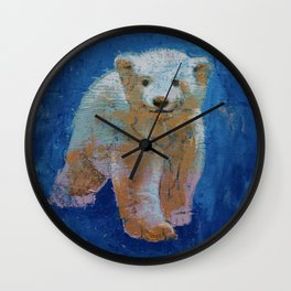 Polar Bear Cub Wall Clock