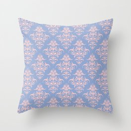 Damask Pattern | Vintage Patterns | Serenity | Rose Quartz | Pantone Colors of the Year 2016 | Throw Pillow