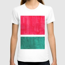 Rothko Minimalist Colorful Pop Art Mid Century Modern Bright Colors Watermelon Red Green T-shirt