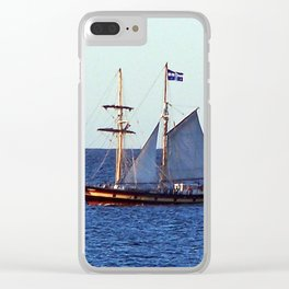 Quebec Sailboat Clear iPhone Case