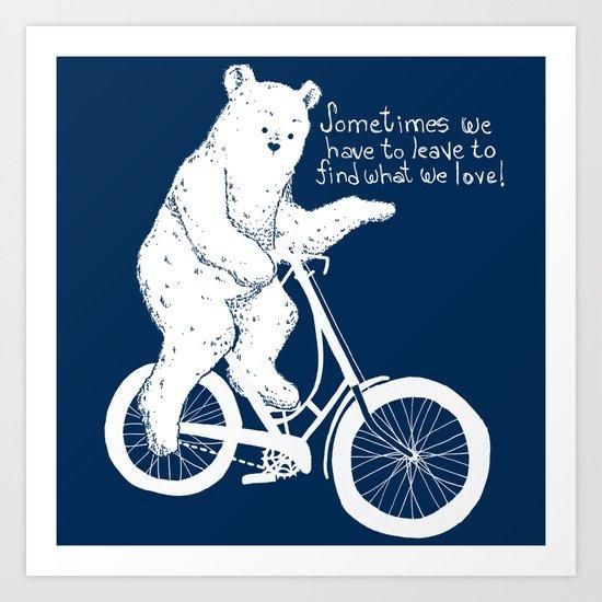 Listen to the Bear Art Print