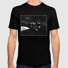One Thousand Years MEDIUM Black Mens Fitted Tee