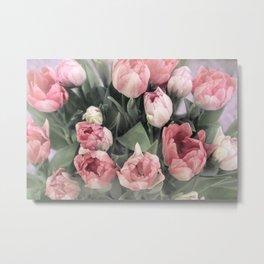 Soft Pink Tulips Metal Print