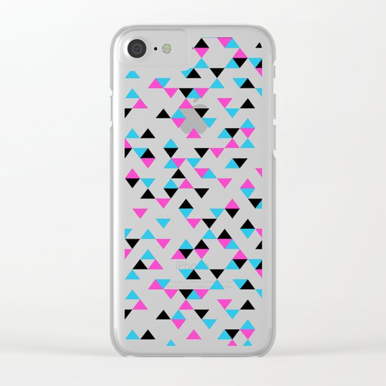 Electric Triangles Clear iPhone Case