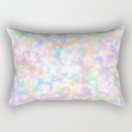 Rainbow Bubbles of Light Rectangular Pillow