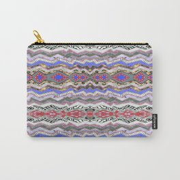 Red Violet Pink Rose Garden Aztec Carry-All Pouch