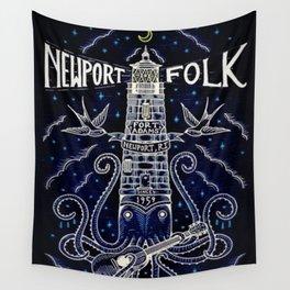 Tribute 1959 Newport Folk Festival - Fort Adams, Newport, Rhode Island portrait painting Wall Tapestry