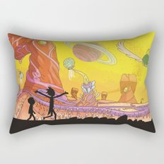 Rick and Morty - Silhouette Rectangular Pillow