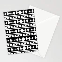 White tribal pattern Stationery Cards