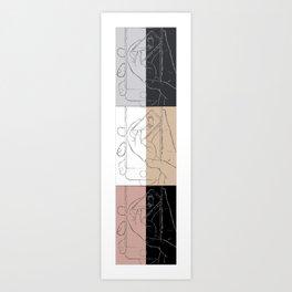 iFail Collage portrait split (Picture This!) alternative Art Print