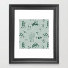 vintage ephemera mint Framed Art Print