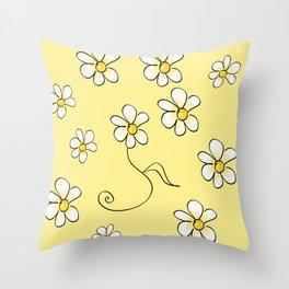 Simple Daisy flower pattern  Throw Pillow