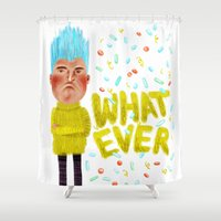 whatever Shower Curtains featuring Whatever by Brianne Burnell