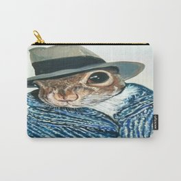 Agent Squirrel Original Acrylic Painting Carry-All Pouch