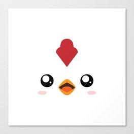 Happy Chicken. Canvas Print