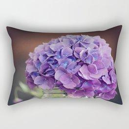 Hydrangea in a Mason Jar on the Porch Rectangular Pillow