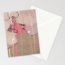 Pink kiss Stationery Cards