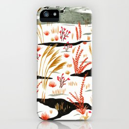 Night Snow illustration by Amanda Laurel Atkins iPhone Case