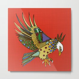 jewel eagle fire Metal Print
